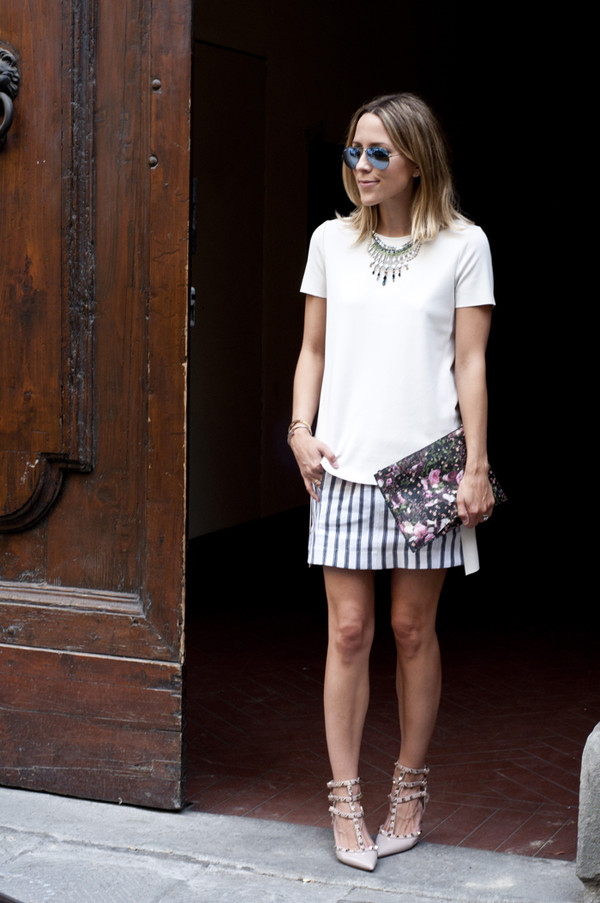 damsel in dior skirt top shoes jewels sunglasses bag