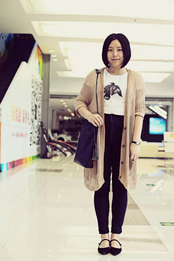 aeccrnticgirl t-shirt cardigan pants jewels bag shoes