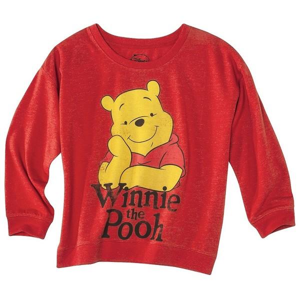 LICENS Vintage Pooh Sweatshirt Red - Polyvore