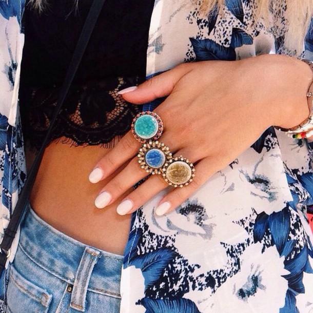 jewels ring boho ring