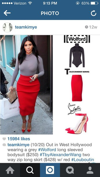 skirt kim kardashian shoes