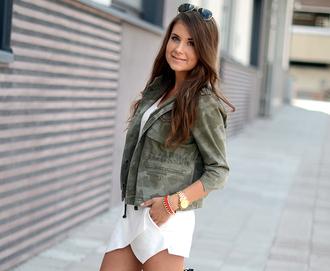 shorts jewels bag mariannan jacket sunglasses