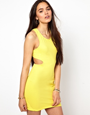 Motel | Motel Mini Dress With Cut Out at ASOS