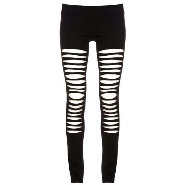 leggings shredded ripped maurie & eve black leggings grunge cute style