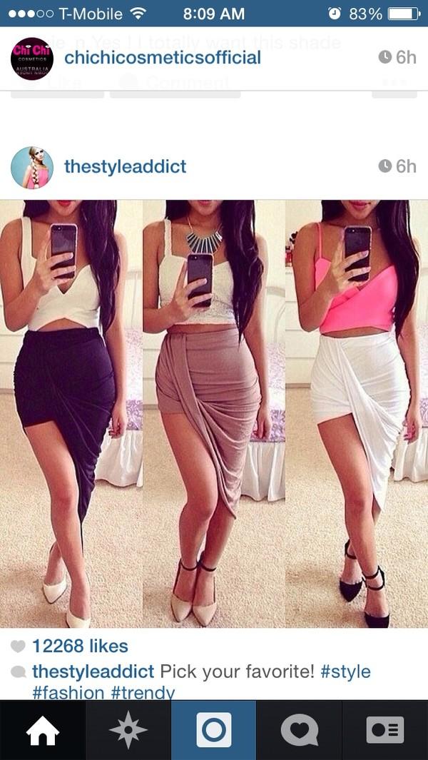 skirt draped skirt brown skirt shirt