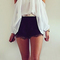 Off the shoulder chiffon blouse|disheefashion