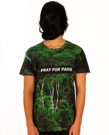 Pray for Paris forest t-shirt (all over print) | Pray For Paris ($20-50) - Svpply