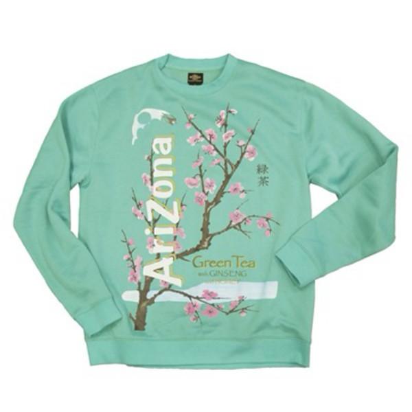 shirt sweater arizona green tea sweater arizona green tea sweatet arizona tea cherry blossom