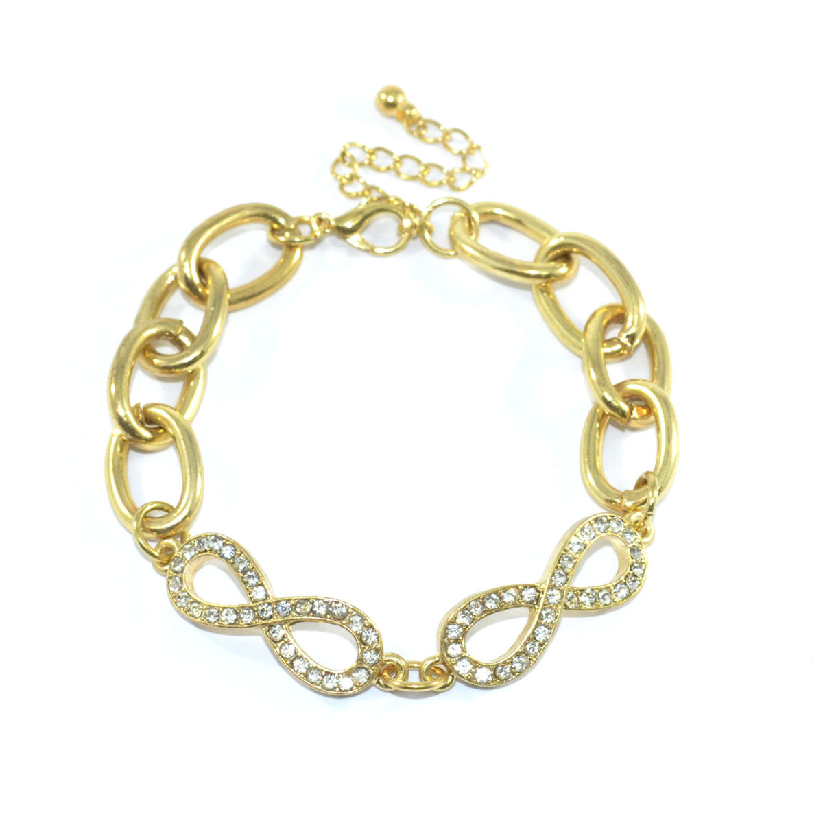 DOUBLE INFINITY CHARM BRACELET - Rings & Tings | Online fashion store | Shop the latest trends