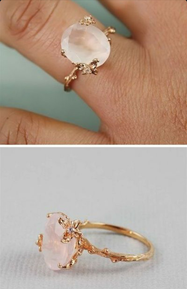 bohemian wedding rings jewels wedding ring engagement ring ring light pink 2005