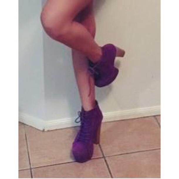 shoes high heels purple shoes