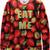 Red EAT ME Strawberries Print Unisex Sweatshirt - Sheinside.com