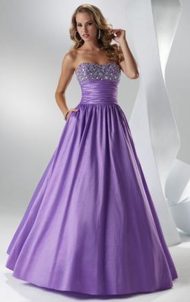 Taffeta Princess Ball Gown Sweetheart Sleeveless Long Prom Dress on Sale KissyDress UK