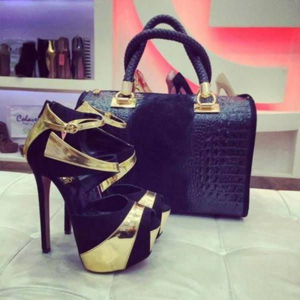 shoes bag bowling bag high heels sandals pumps escarpins black shoes fashion fashion shoes
