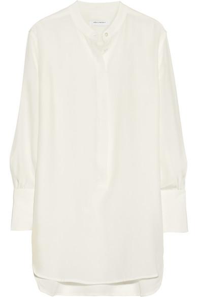 Equipment|Ian washed-silk tunic shirt|NET-A-PORTER.COM