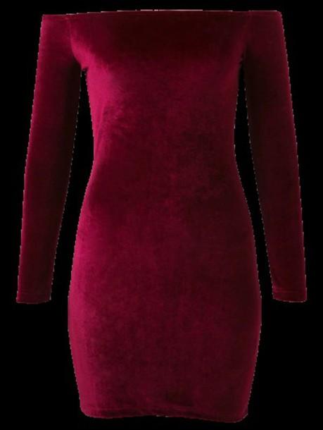 dress burgundy velvet long sleeves sexy bodycon dress hot zaful