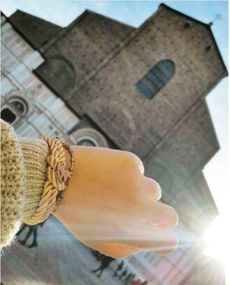 jewels leomazzotti knot bracelet bracelets gold bracelet gold beige rope