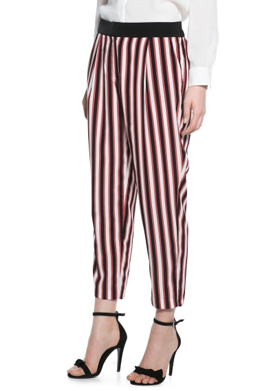 MANGO - CLOTHING - Trousers - Striped baggy trousers