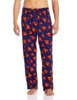 "Amazon.com: Classic ""Superman"" Men's short-sleeve, long leg pajamas in Blue: Clothing"