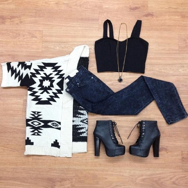 jewels shirt sweater shoes blouse jeans