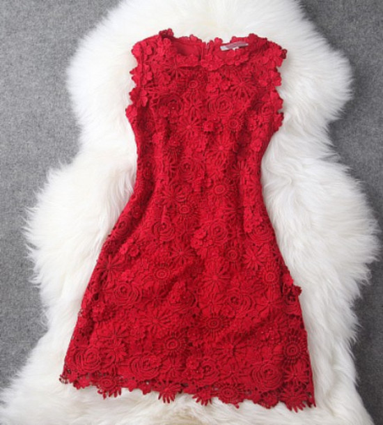 dress short homecoming lace dress red red dress lace style fashion night elegant sweet bodycon dress dresslove2015 classy dress short dress sleeveless dress