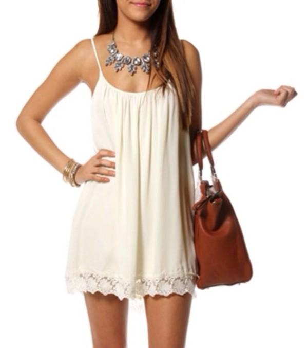 dress summer dress summer cream dress