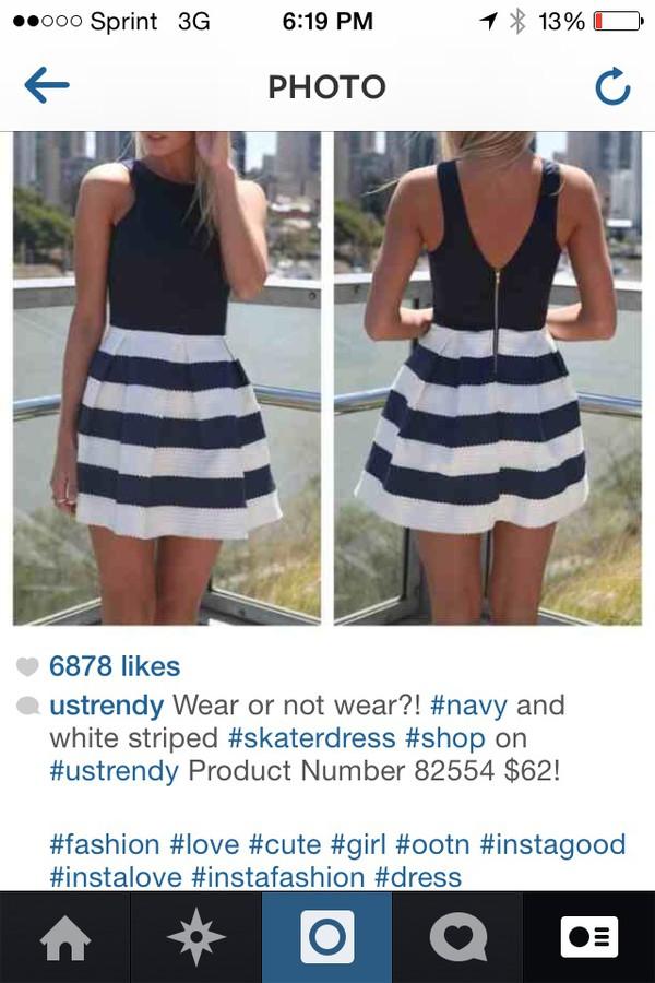 dress black and white short dress