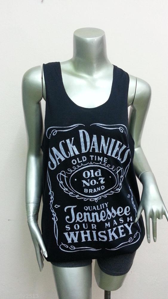 New Jack Daniels Whiskey Tank Tops Ladies Sexy T Shirt Women Q01 Black Size M L | eBay