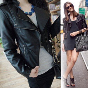 Europe Rushed Zippers And America 2014 New Autumn Ladies Motorcycle Pu Leather Women Paragraph Slim Double Collar Jacket Trendy-in Leather & Suede from Apparel & Accessories on Aliexpress.com