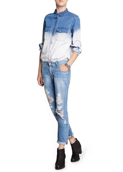 MANGO - Sale - Röcke - Ombré-Jeanshemd