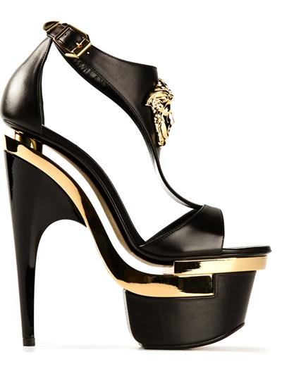 Versace Sculpted Platform Sandal - Jean Pierre Bua - Farfetch.com