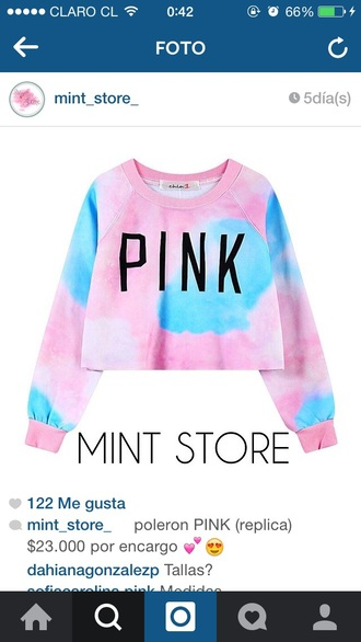 sweater pink sweater nebula tumblr sweater tie dye