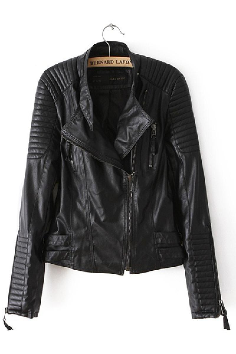 2013 New Section Slim Fit PU Short Biker Jacket,Cheap in Wendybox.com