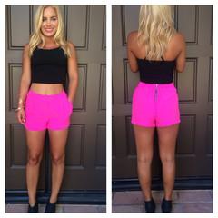 Hot Pink Electra Shorts                           | Dainty Hooligan Boutique