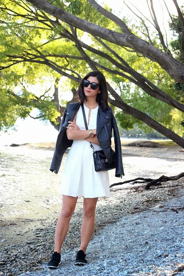 this time tomorrow jacket dress shoes sunglasses bag