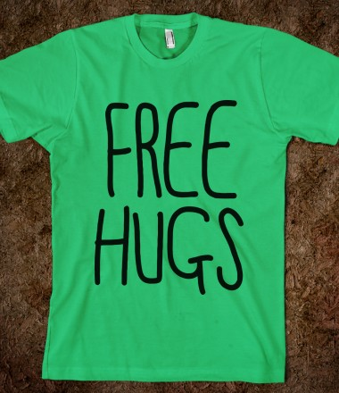 Free Hugs - Your Life On A Shirt - Skreened T-shirts, Organic Shirts, Hoodies, Kids Tees, Baby One-Pieces and Tote Bags Custom T-Shirts, Organic Shirts, Hoodies, Novelty Gifts, Kids Apparel, Baby One-Pieces | Skreened - Ethical Custom Apparel
