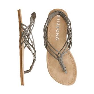 shoes billabong sandals grey flat sandals