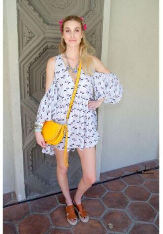 dress whitney port sandals purse coachella festival music festival shoes bag