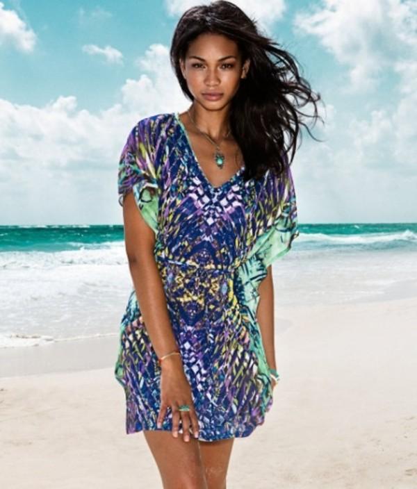 dress chanel iman beach lovely