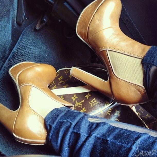 shoes heels brown louis vuitton