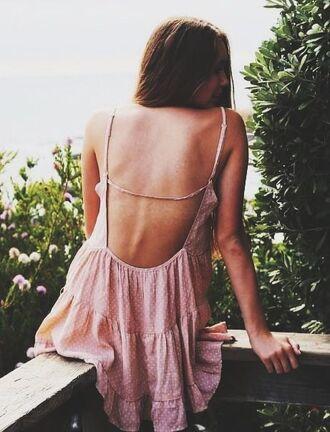 dress pink dotted jada jada dress pink dotted pretty brunette skiny skinny