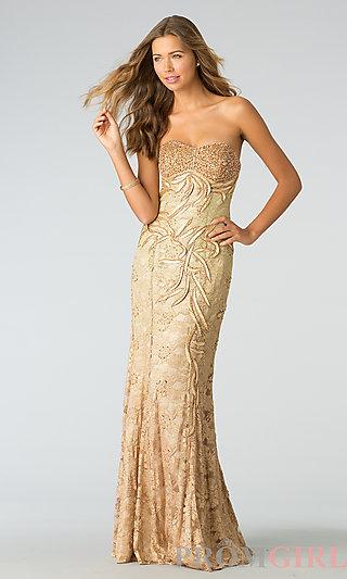 Strapless Formal Dresses, Long Strapless Prom Dresses- PromGirl