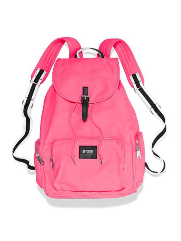 Amazon Com Victoria S Secret Pink Backpack Neon Hot Pink