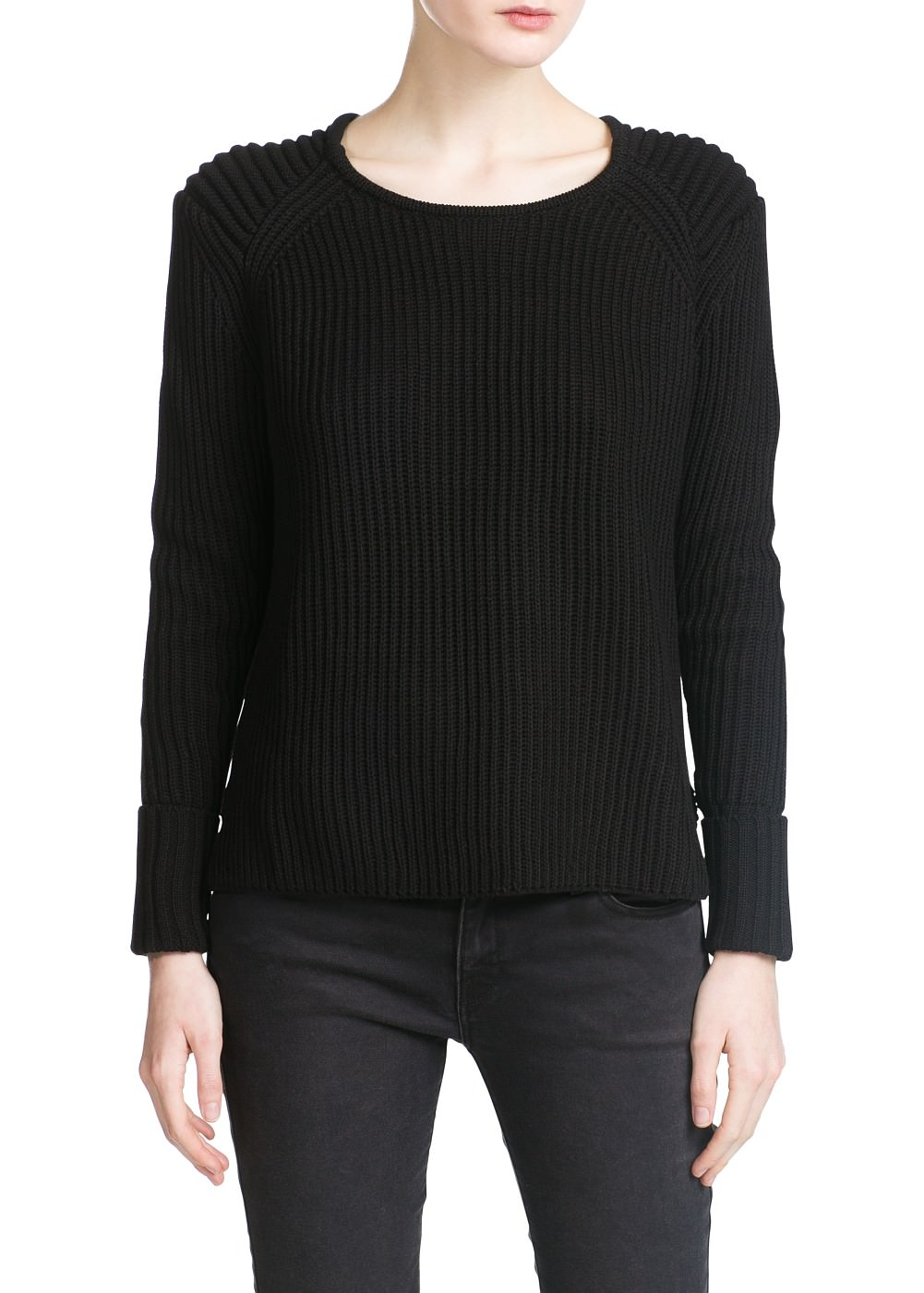 Pull-over maille anglaise -  							Cardigans et pull-overs - 							Femme - 							MANGO
