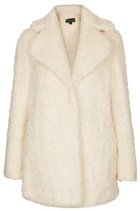 Teddy Fur Pea Coat - Jackets & Coats  - Clothing  - Topshop