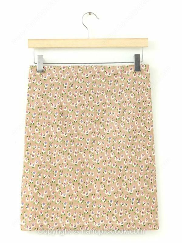 skirt floral skirt floral print dress printed skirt pastel dress pencil skirt