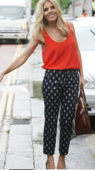 pattern trousers mollie king the saturdays