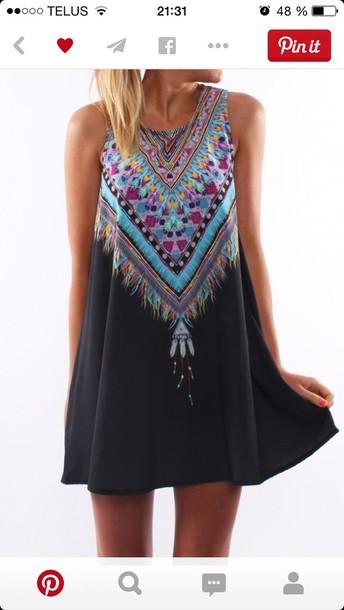 dress summer dress multi colored dress