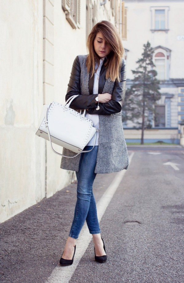 scent of obsession jacket shirt jeans jewels bag shoes