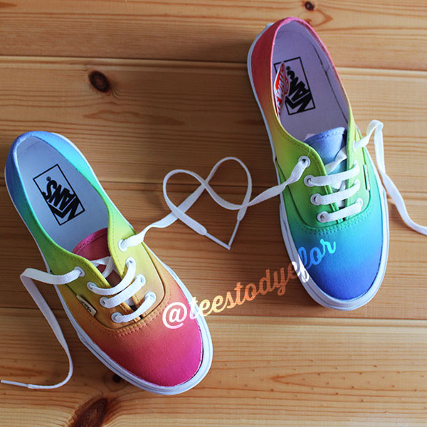 shoes vans vans vans skateboard skate shoes clothes vans of the wall custom vans custom shoes custom sneakers sneakers tie dye ombre skater skater shoes clothes fashion art summer outfits summer shoes